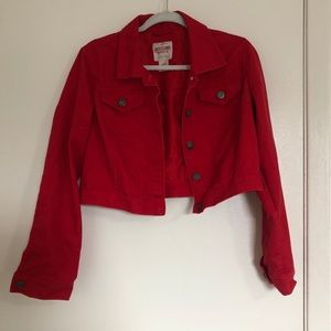 Mossimo long sleeve red jacket size L